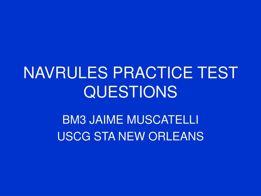 navrules practice test questions l.