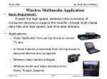 wireless multimedia application