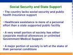 social security and state support