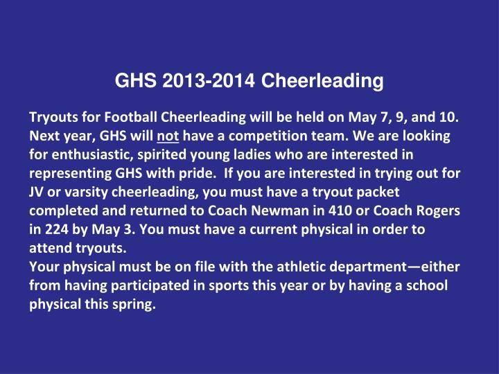 GHS 2013-2014 Cheerleading