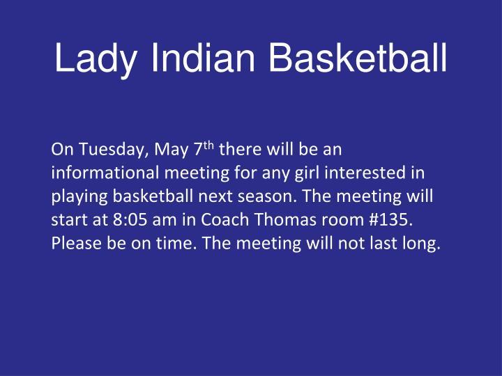 Lady Indian Basketball