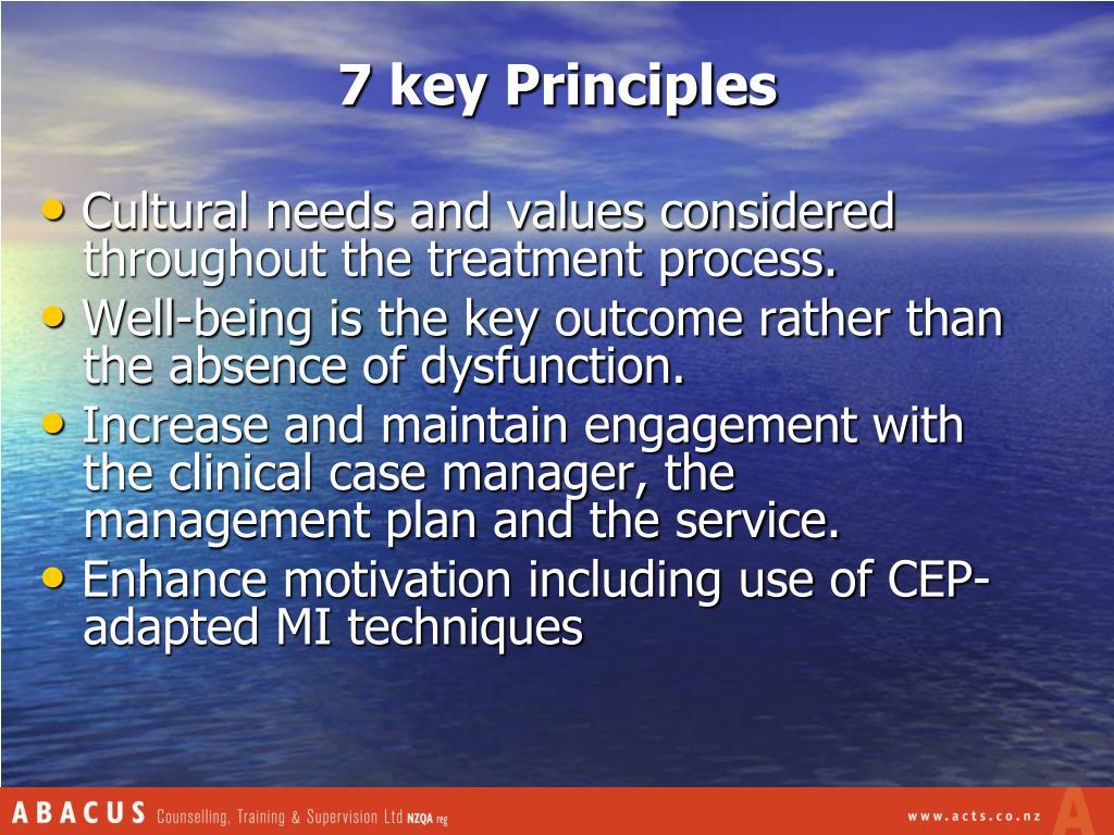 7 key Principles
