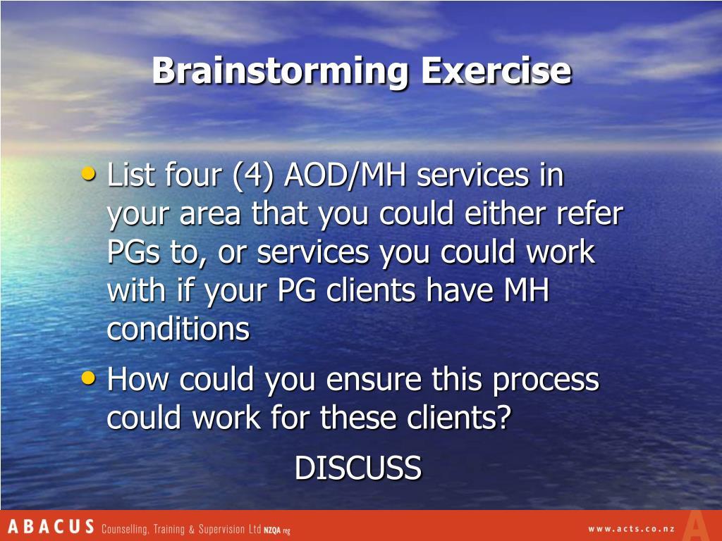 Brainstorming Exercise