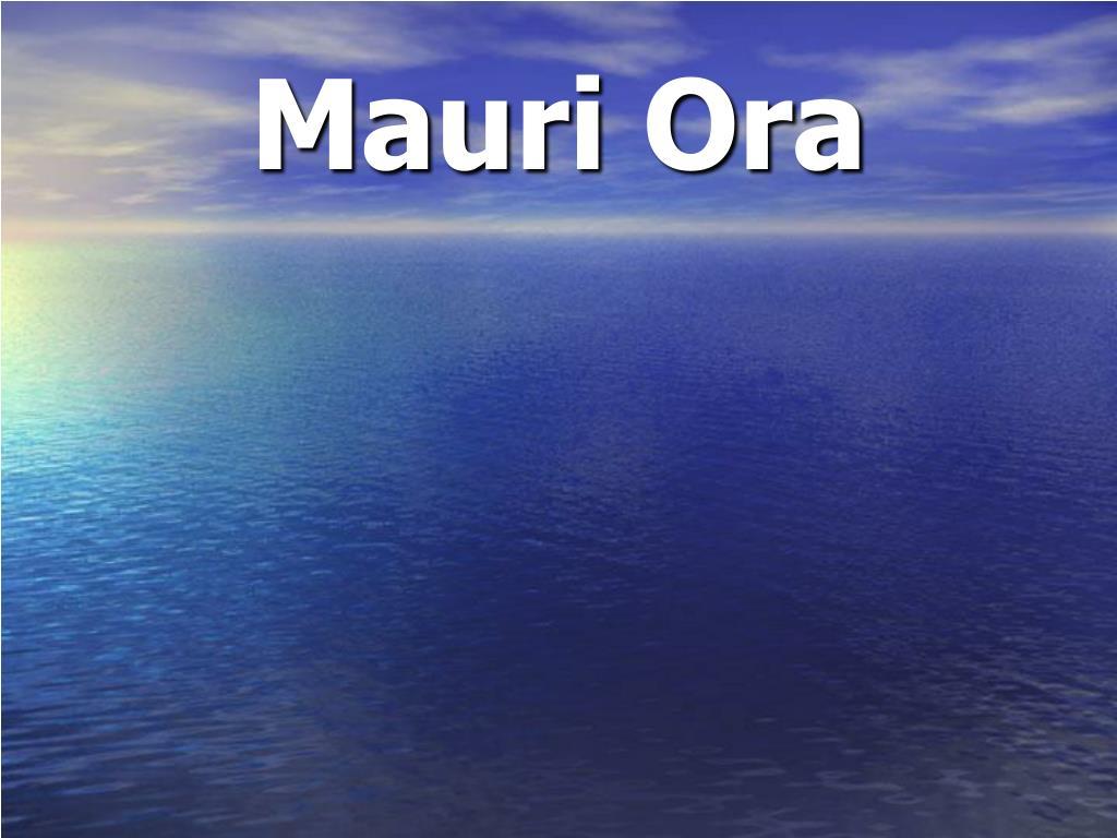Mauri Ora
