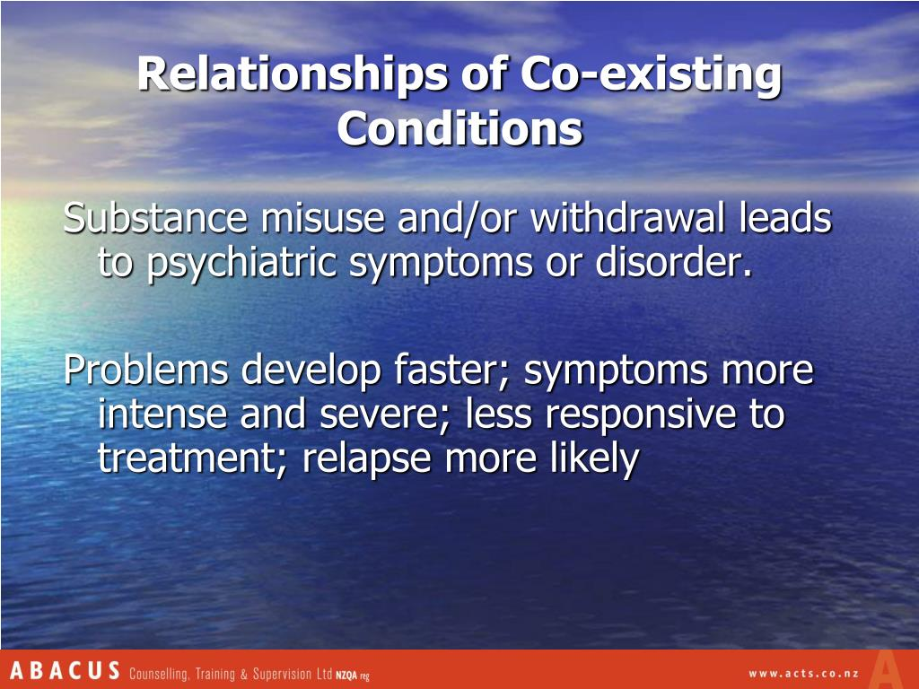 Relationships of Co-existing Conditions