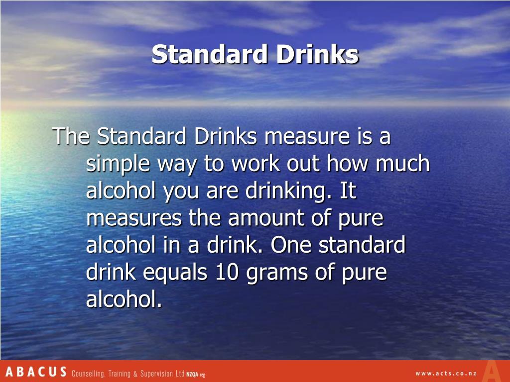 Standard Drinks