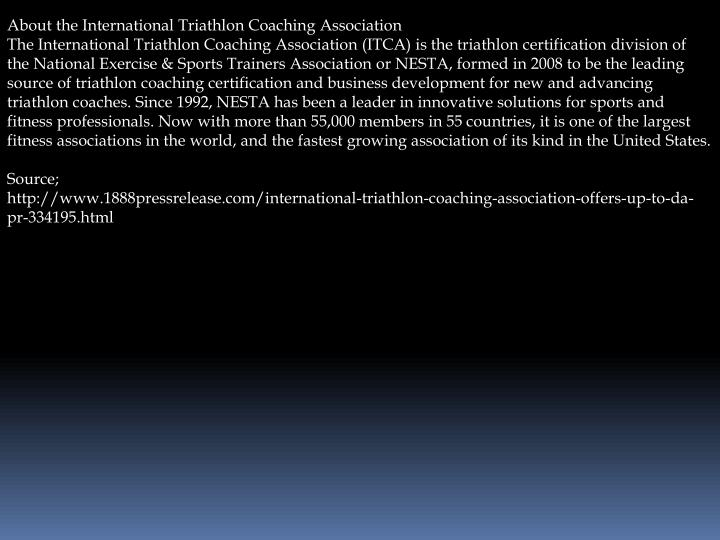 About the International Triathlon Coaching Association