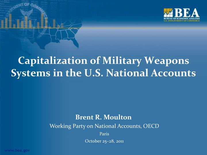 capitalization of military weapons systems in the u s national accounts n.