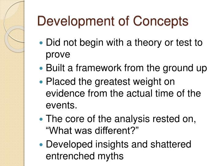 Development of Concepts
