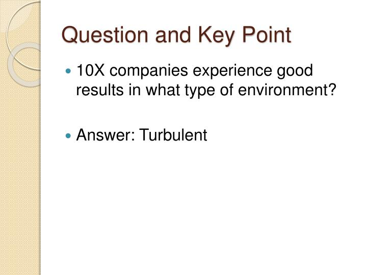 Question and Key Point