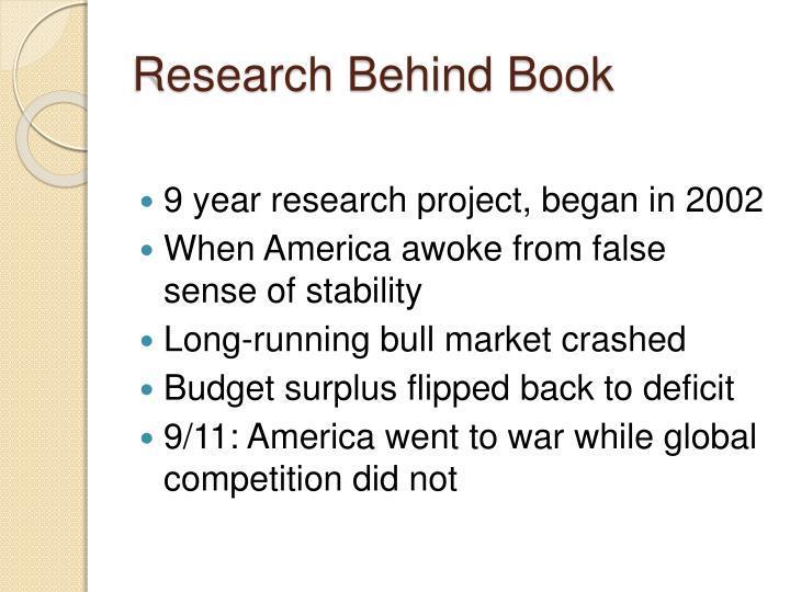 Research behind b ook