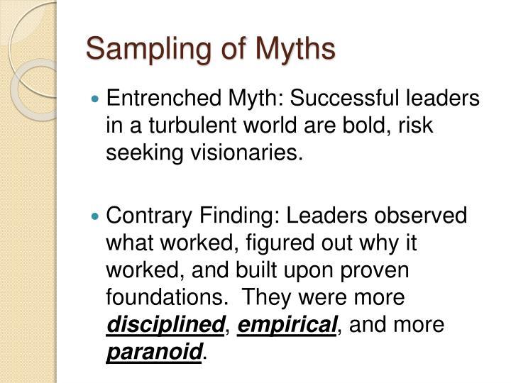 Sampling of Myths