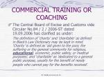 commercial training or coaching1