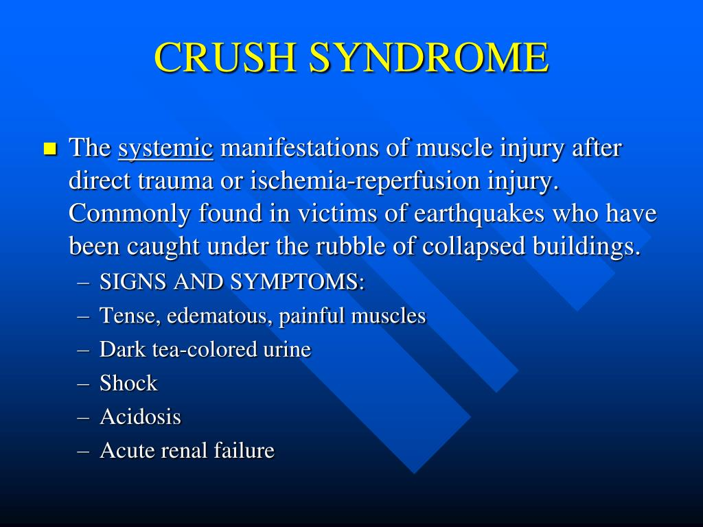 Syndrom crush Amputation in