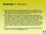 exercise 1 scenario