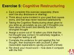exercise 5 cognitive restructuring