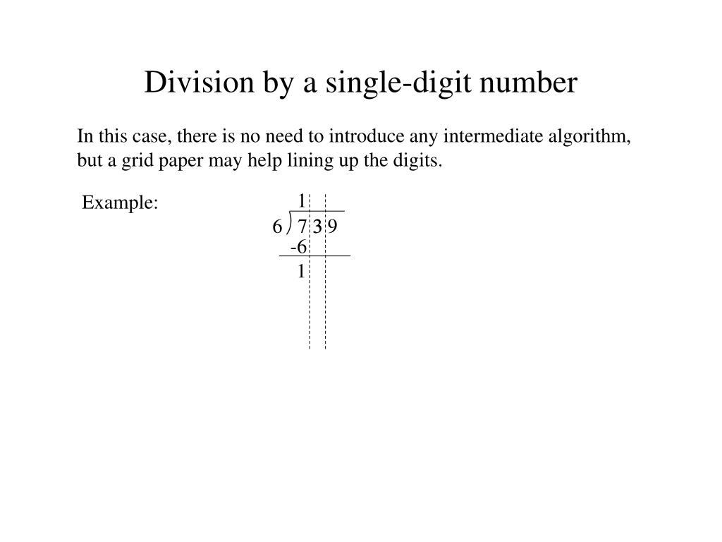 Division by a single-digit number