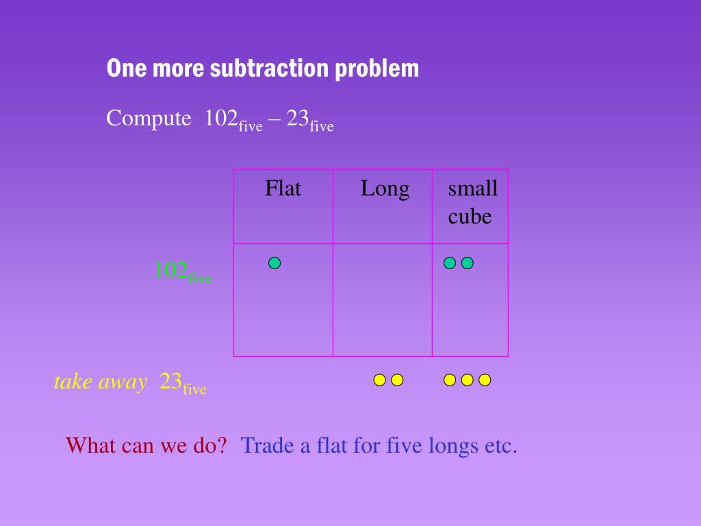 One more subtraction problem