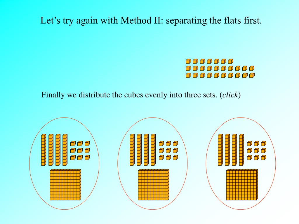 Let's try again with Method II: separating the flats first.