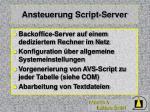 ansteuerung script server