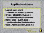 applikationsklasse