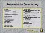 automatische generierung