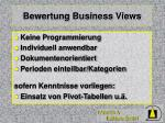 bewertung business views