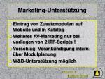 marketing unterst tzung