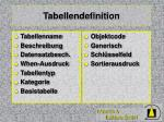 tabellendefinition