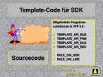 template code f r sdk