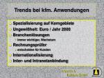 trends bei kfm anwendungen
