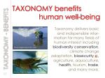 taxonomy benefits human well being
