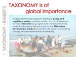 taxonomy is of global importance