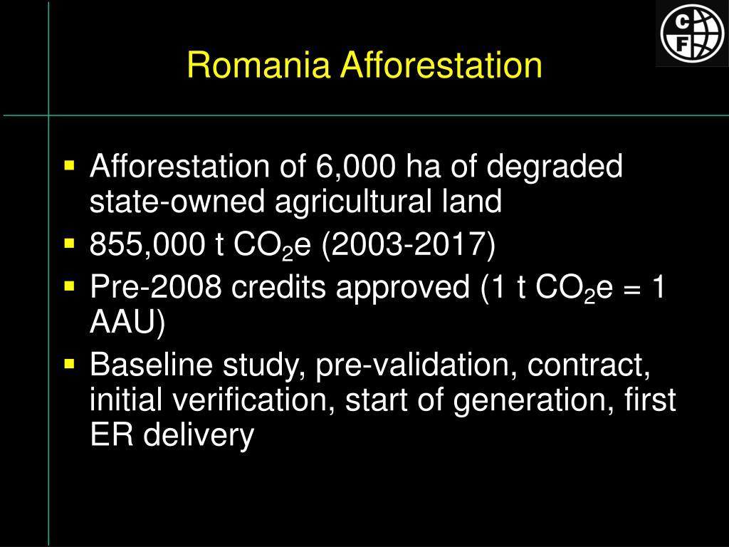 Romania Afforestation