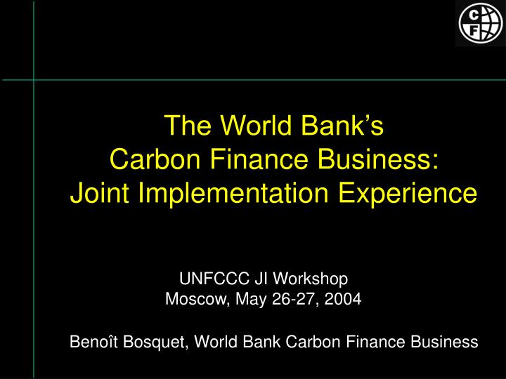 The World Bank's