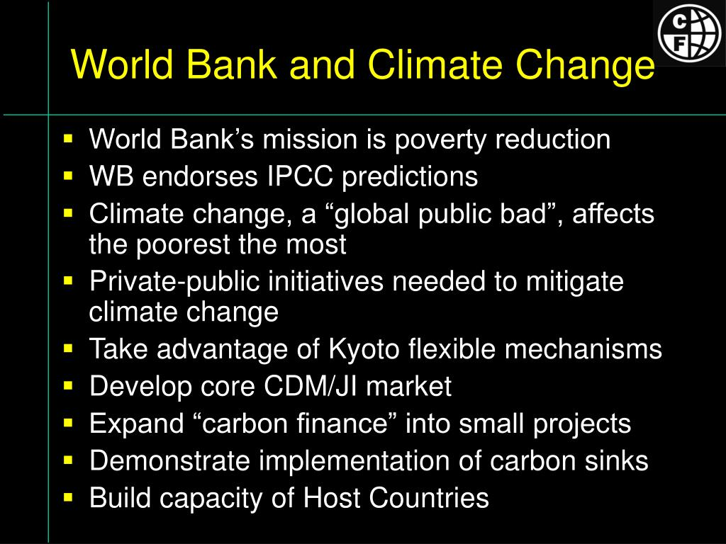 World Bank and Climate Change