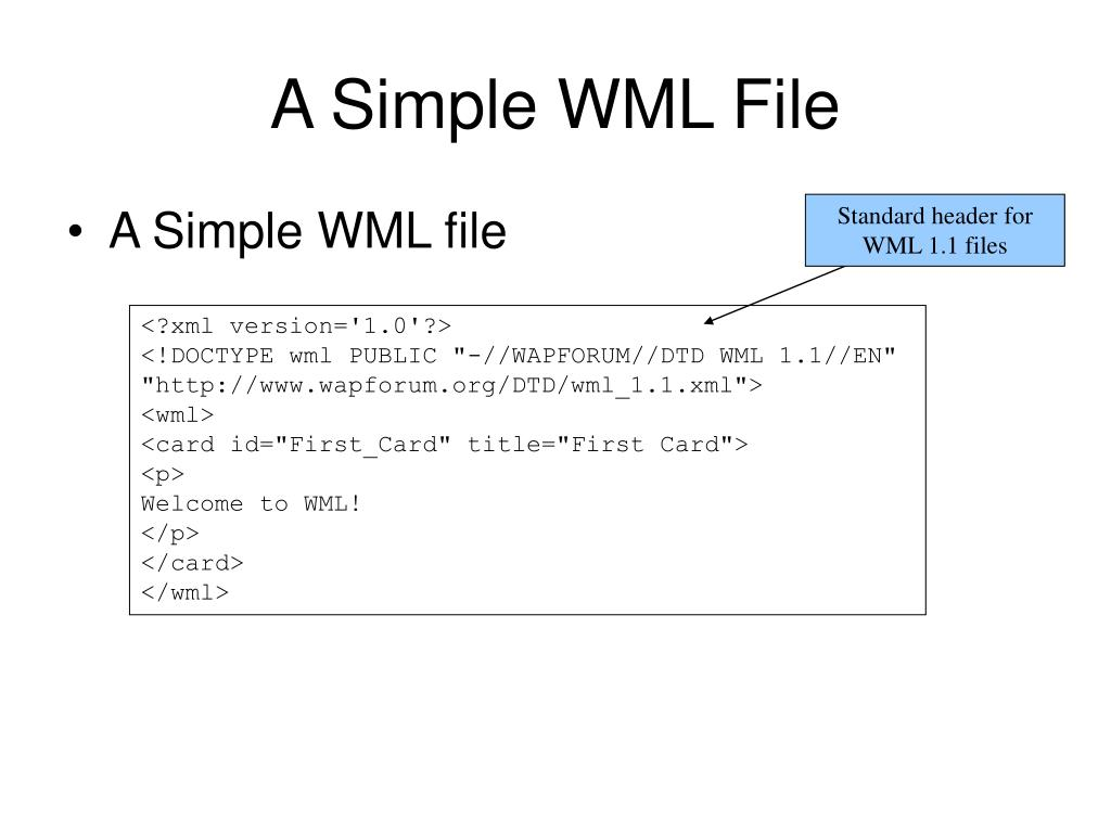 A Simple WML File