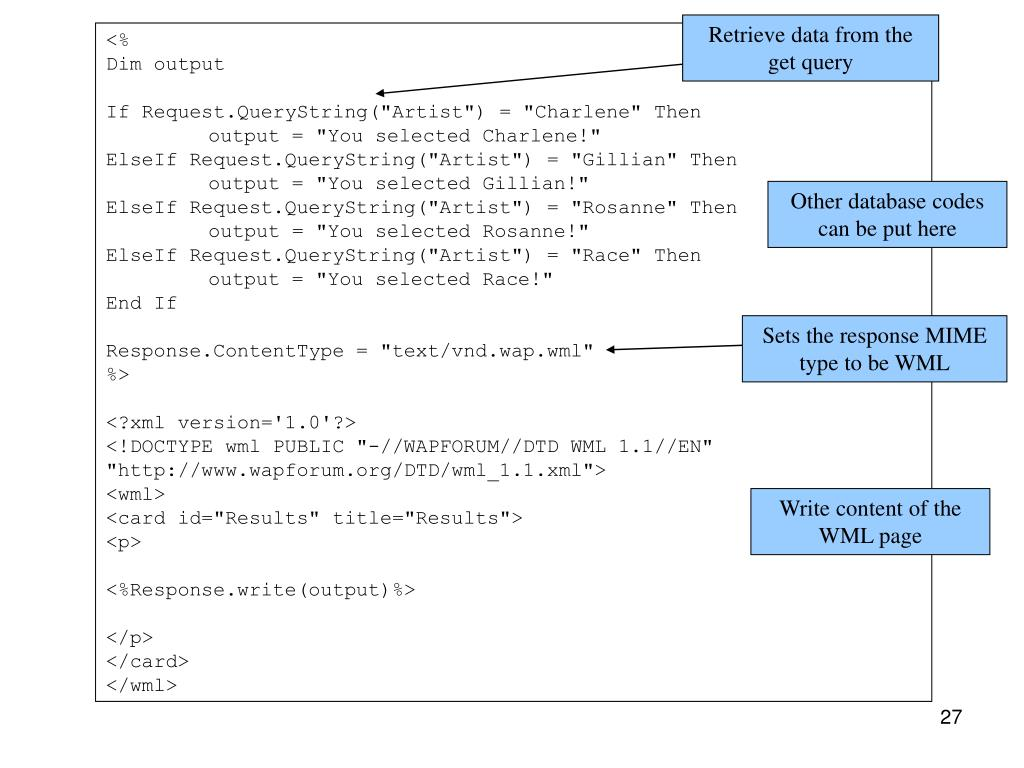 Retrieve data from the get query