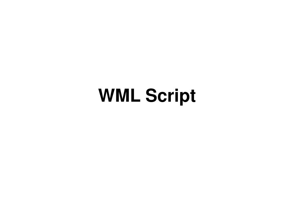 WML Script