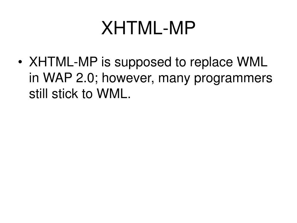 XHTML-MP