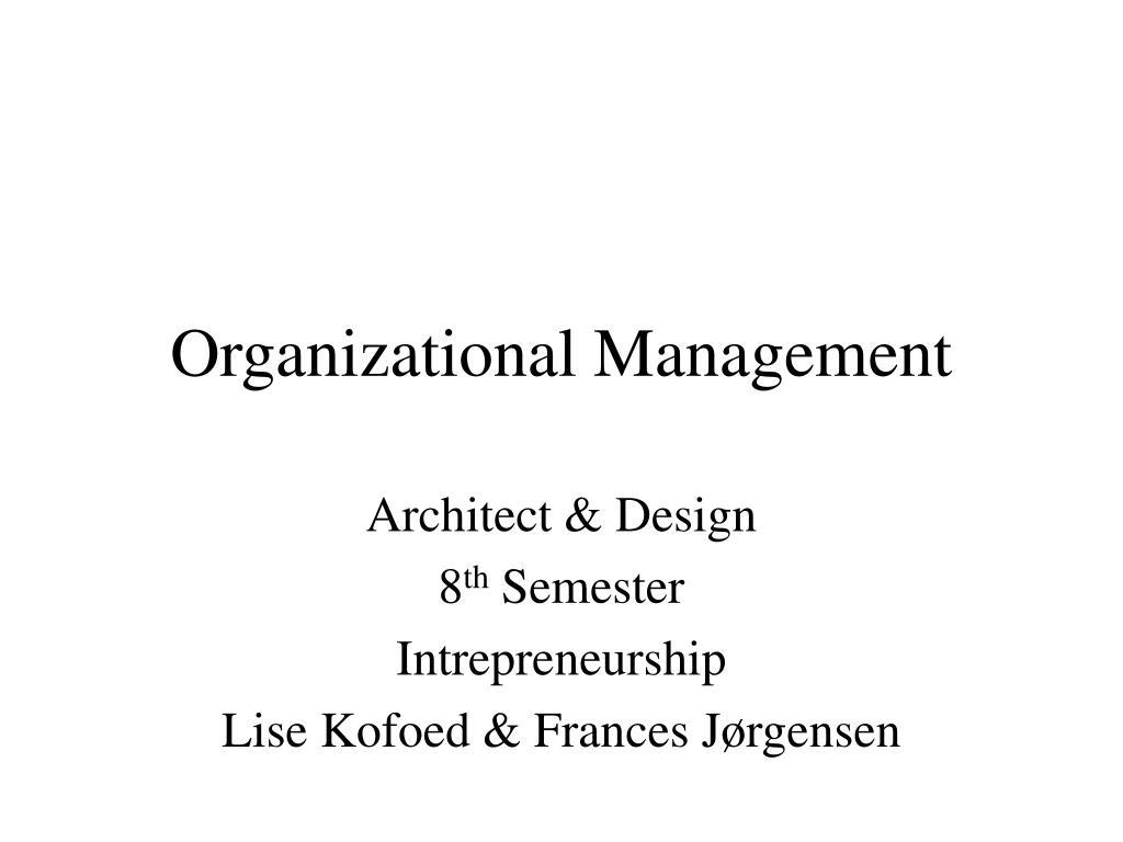 organizational management l.
