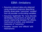 ebm limitations1