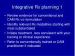 integrative rx planning 1