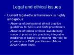 legal and ethical issues1