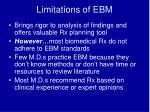 limitations of ebm