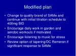 modified plan