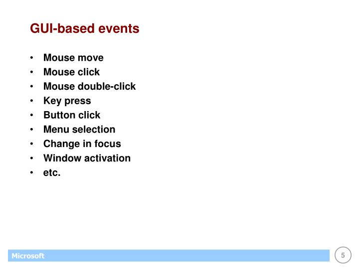 GUI-based events