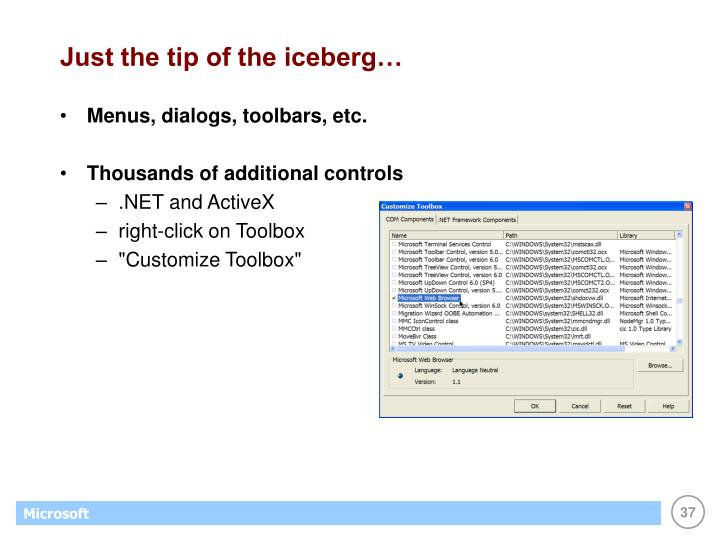 Just the tip of the iceberg…