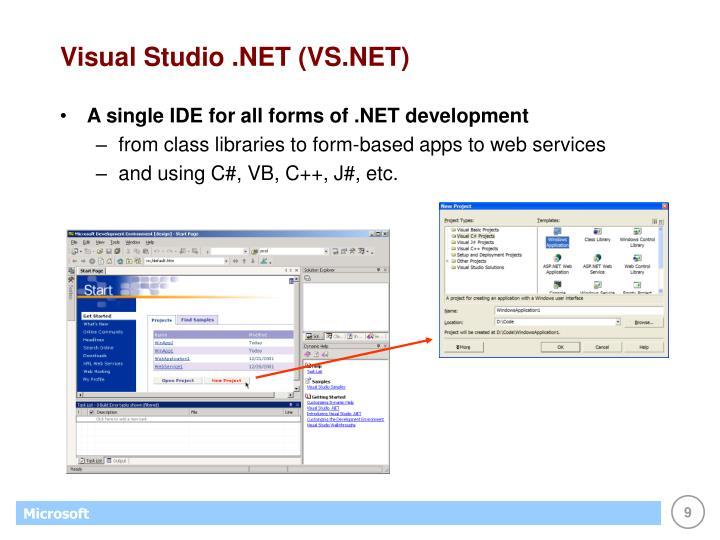 Visual Studio .NET (VS.NET)