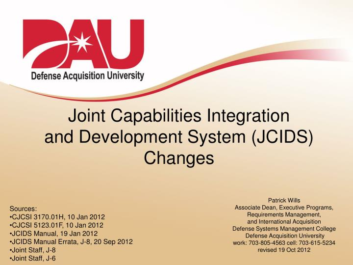 joint capabilities integration and development system jcids changes n.